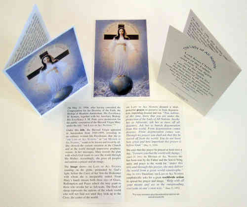 Prayer card, 4 pages, - English