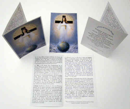 Prayer card, 4 pages, - French