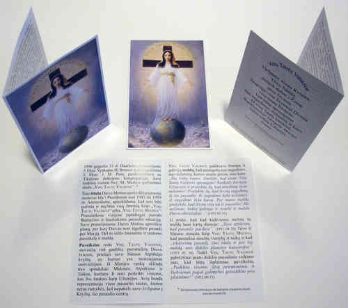 Prayer card, 4 pages, - Lithuanian