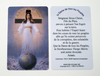 Hard plastic prayer card (Credit card size) - French