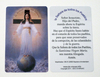 Hard plastic prayer card (Credit card size) - Spanish