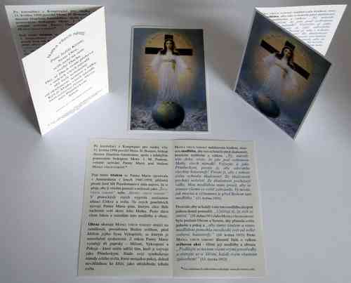 Prayer card, 4 pages, - Czech