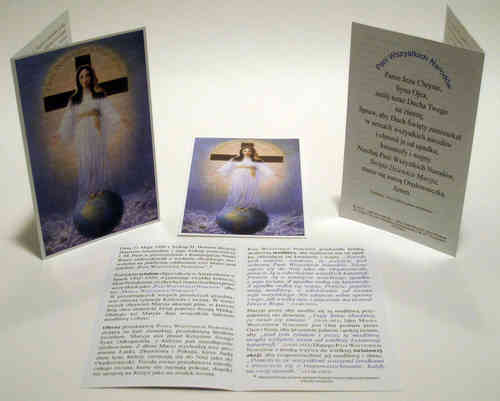 Prayer card, 4 pages, - Polish