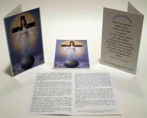 Prayer card, 4 pages, - Swedish