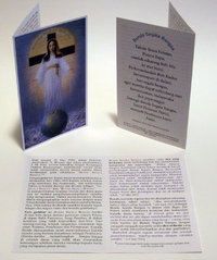 Prayer card, 4 pages, - Indonesian