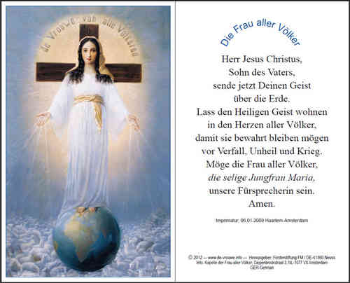 Prayer card, double-sided - German, download for personal printing