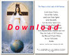 Prayer card, double-sided - English, download for personal printing
