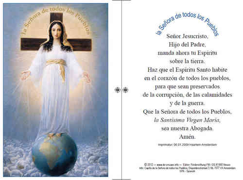 Prayer card, double-sided - Spanish, download for personal printing
