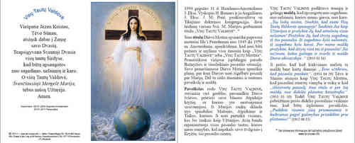 Prayer card, 4 pages, - Lithuanian, download for personal printing