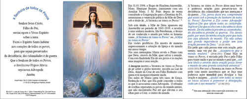 Prayer card, 4 pages, - Portuguese, download for personal printing