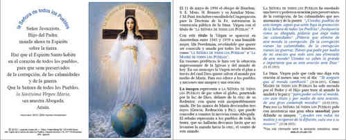 Prayer card, 4 pages, - Spanish, download for personal printing