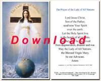 Prayer card, double-sided, download